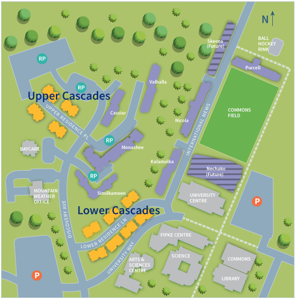 UBC Okanagan Residence Map | Cascades