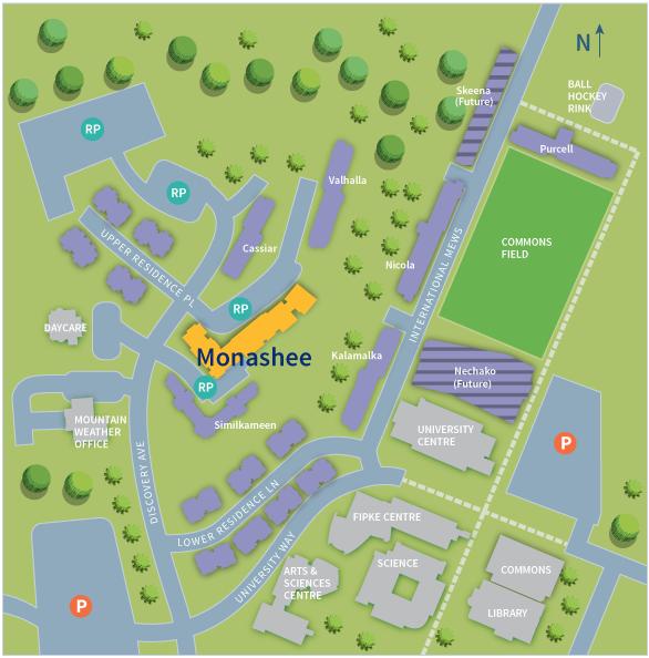 UBC Okanagan Residence Map | Monashee
