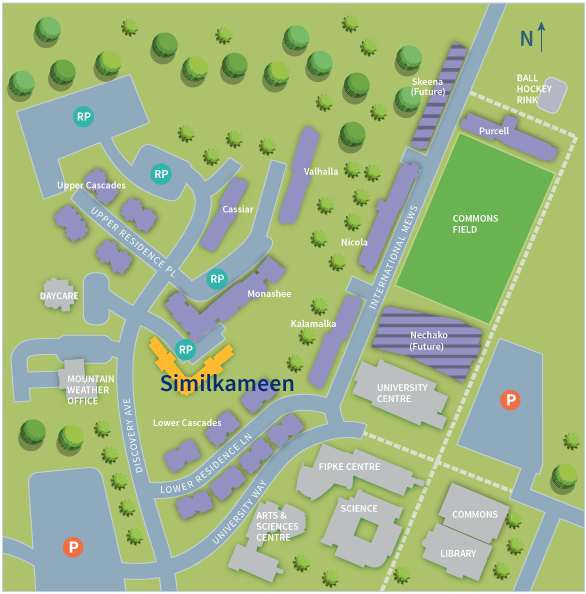 UBC Okanagan Residence Map | Similkameen